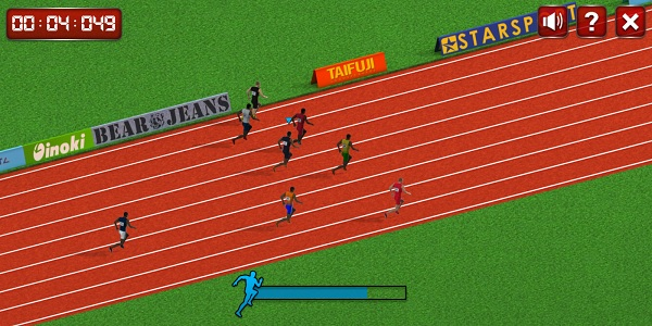 100 Meter Race Screen Shot