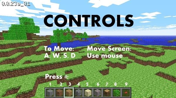 Minecraft Classic Screen Shot